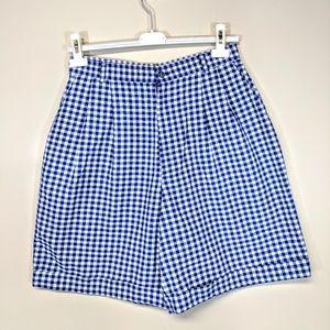 Hunt Club Shorts - Vintage 80's Plaid Shorts